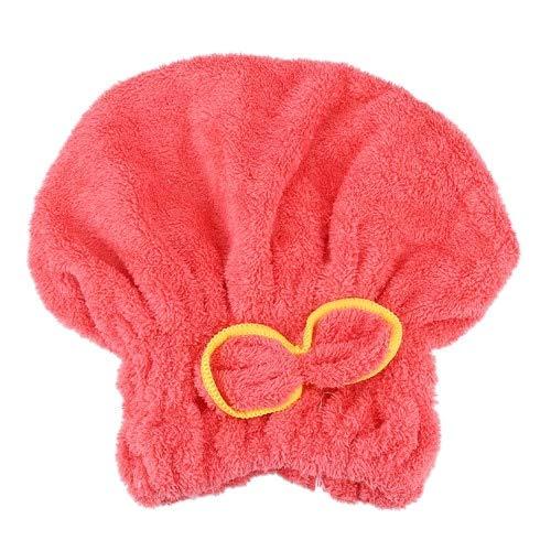 6 Colores de Microfibra sólidos Sombreros para el Cabello de Secado rápido Mujeres niñas Sombreros para Damas Herramientas de baño Toalla de Secado Sombreros para la Cabeza - como Imagen