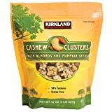Kirkland Cashew Clusters with Almonds and Pumpkin Seeds Gluten Free 32 oz (Pack of 2)