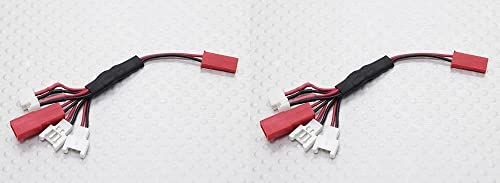 2 x Quantity of bleu Mini Drone Multi-Plug Charge Lead for Micro Model Batteries - FAST Libre SHIPPING FROM Orlando, Florida USA
