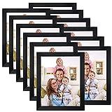 Giftgarden Marco de fotos negro a granel, 8 x 10, juego de marcos de fotos multi 8 x 10 para colgar en la pared o mesa, paquete de 12