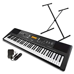 Bundle includes PSRE EW300 keyboard, PKBS1 keyboard stand and PA130 power supply A 76 key portable keyboard with 574 voices, 165 styles and 154 preset songs; Recording number of songs 5; Number of tracks 2; Data capacity approx; 10,000 notes Yamaha E...