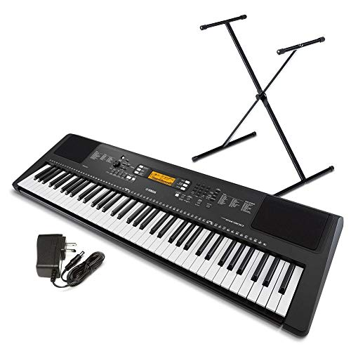 Yamaha PSR-EW300 SA 76-Key Portable Keyboard Bundle With Stand And Power Supply