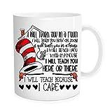 Funny coffee Mug - I will teach because I care ,teacher Cup, end of year teacher Mug, Teacher Worker Job Title Coffee Mug,Thanks teacher cup,Christmas Mugs - 11 oz Novelty Mug