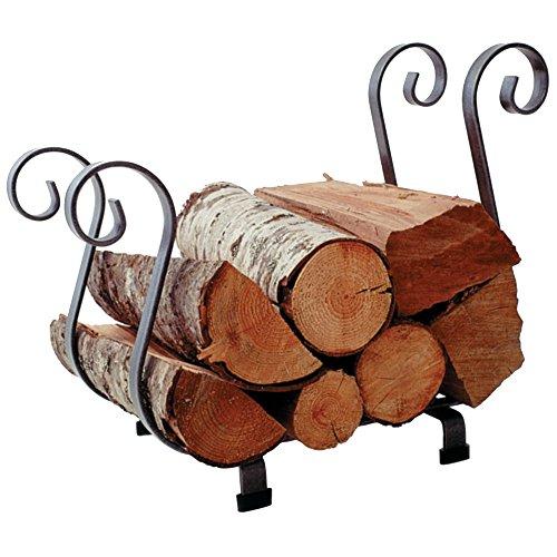 Enclume Sleigh Log Rack, Hammered Steel