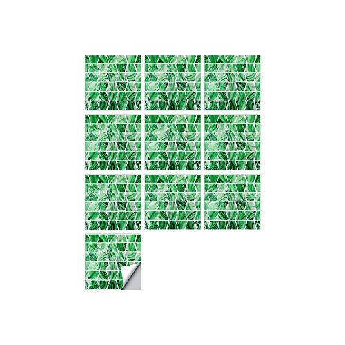 Cylficl. 10 PCS SIMULACIÓN 3D Auto Adhesivo Vinilo Papel Pantalón Peel and Stick Decorativo Calcomanías Impermeable Baño Mosaico Mosaico Pegatina (Color : FDJ019, Size : 15cmX15cmX10pcs)