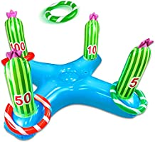TURNMEON Giant Inflatable Cactus Ring Toss Party Game Toys Kids Adults Family Toys Party Supplies Favors Decoration...