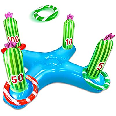 Amazon - 60% Off on Giant Inflatable Cactus Ring Toss Party Game Toys Kids Adults Family Pool Toys