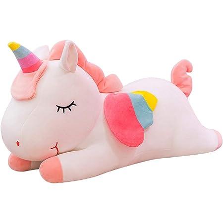 BESPORTBLE Animal Abrazo Almohada Dibujos Animados Unicornio Caballo en Forma de Cojín Almohada de Peluche Muñeca Juguete Cama Sofá Decoraciones para Niños Niños