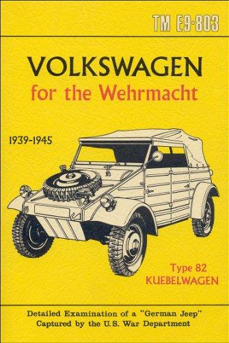 U.S. War Department 1944 German Volkswagen Kubelwagen Manual (English Edition)