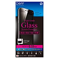 Deff iPhone 6 6s Plus 対応 液晶 保護 ガラス フィルム プレート ブルーライト 低減 タイプ/High Grade Glass Screen Protector/DG-IP6SB3F / DG-IP6PSB3F (iPhone 6 Plus / 6s Plus, ブラック(黒))