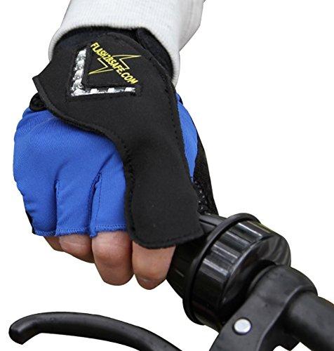 Flash2bsafe Handblinker - passend für alle Hände - der Blinker für Radfahrer - Erwachsene und Kinder
