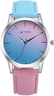 Big promotion ! Women's Watches, Auwer Retro Rainbow Design Leather Band Analog Alloy Quartz Wrist Watch