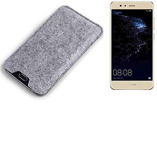 K-S-Trade® Filz Schutz Hülle Für Huawei P10 Lite Dual-SIM Schutzhülle Filztasche Filz Tasche Hülle Sleeve Handyhülle Filzhülle Grau