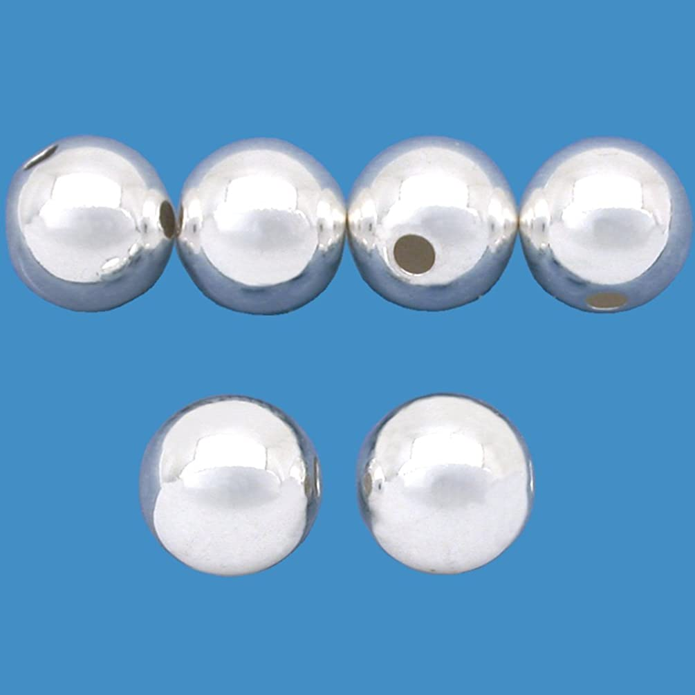 (6) 10mm Sterling Silver Seamless ROUND Spacer Beads 2.5mm Hole 31278