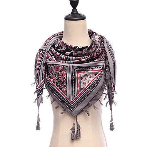 WHFDRHWJ sjaal hals hoofddoek sjaal sjaal sjaal sjaal deken vrouwen sjaals vierkant katoen zachte warme lente winter wraps Lady Bandana kwasten grote maat