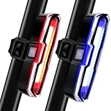 2 Pieces Bike Light 110 Lumens Bike Rear Light USB Rechargeable LED Bicycle Tail Light Waterproof Cycling Safety Flashlight with 5 Modes