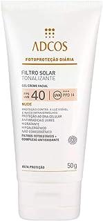 Protetor Solar Adcos Tonalizante Nude FPS 40 Gel Creme Com Cor 50g