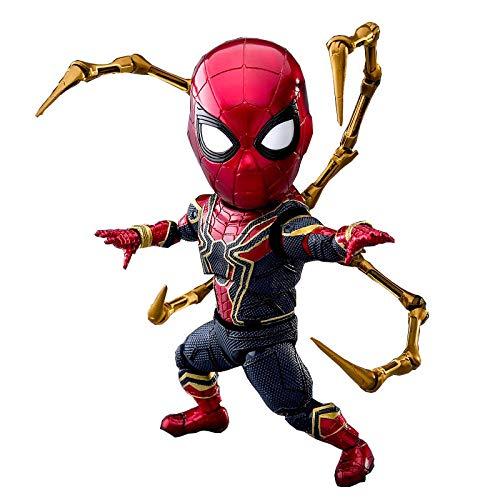 Henypt Figura Animado Figura Figura De Acción Iron Spider 16Cm Hero Figura Linda Modelo De Juguetes para Niños Figuras De Anime Modelo De Personaje Imagen Estática Estatua Coleccionables