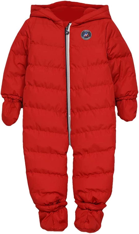 Peak Mountain-Skianzug für Baby MEROSKI-rot-12 Monate