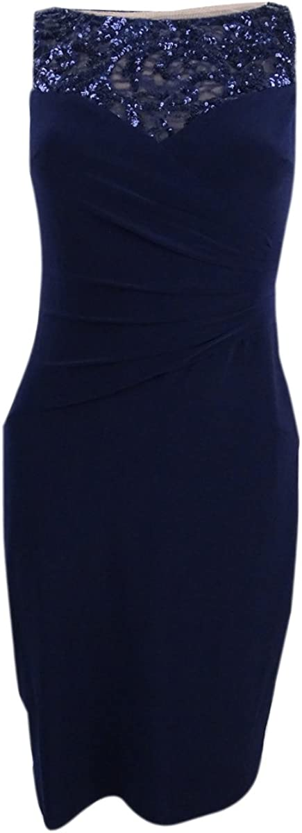 Lauren Ralph Women's Sequin Jersey Max 63% OFF SEAL limited product Top Embellished Dress
