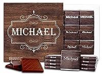 """DA CHOCOLATE キャンディ スーベニア """"男性の名前"""" MALE NAMES チョコレートセット 5×5一箱 (Michael)"""
