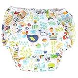 Popolini - Pantalón de aprendizaje, talla grande, con diseño jardín