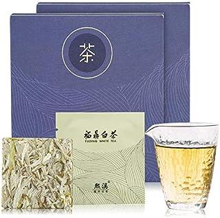 白茶 2017年原料 特級白毫銀針50g(25g*2)計10枚 老白茶 ホワイトティー 抗酸化物質が豊富 中国茶 茶葉 農薬不使用 ノンカフェイン健康茶