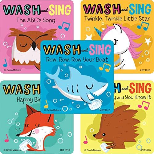 Hand Wash and Sing Stickers - Coronavirus COVID-19 Supplies - 100 Per Pack