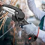KKTECT Mini motosierra Motosierra eléctrica inalámbrica de 4 pulgadas Sierra eléctrica portátil de mano para cortador de madera de rama de árbol