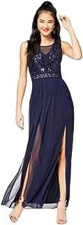 Juniors' Sequined-Bodice Gown