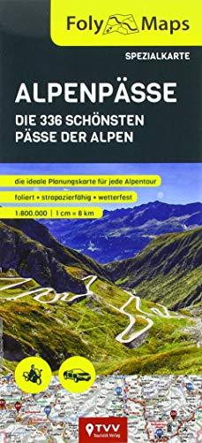 FolyMaps Alpenpässe Spezialkarte: 1:800 000