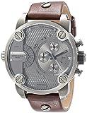 Diesel Men's DZ7258 Little Daddy Gunmetal Brown Leather Watch