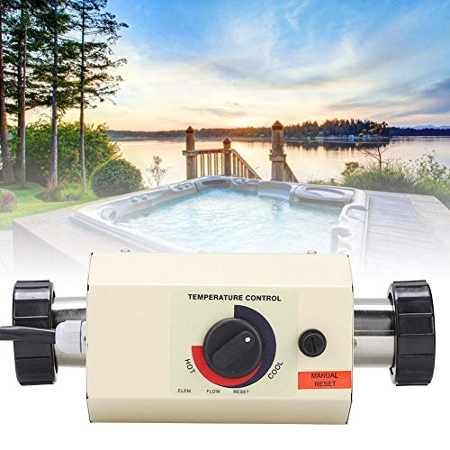 Pbzydu Thermostat der Pool Heizungs 3KW, Mini wasserdichter Warmwasserbereiter Thermostat für Badewannen Swimmingpool Badekurort Massage(EU)