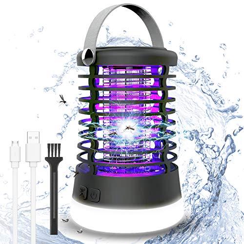 ROVLAK Bug Zapper Électronique Lampe Anti Moustique Lumières Extérieur 2-en-1 Portable Camping Moustique Tueur Lampe Efficace Étanchéité IP66 Insecte Tueur Piège pour Mouches Ravageurs et Moustiques