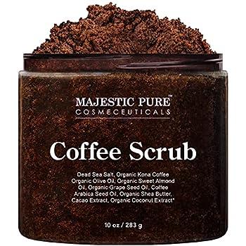 Majestic Pure Scrubs - All Natural Body Scrub for Skin Care 10 Ounces