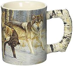 River's Edge Products 3D 15 oz. Mug - Wolf Scene