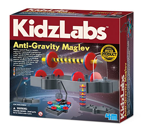 4M Kidzlabs Anti Gravity Magnetic Levitation Science Kit - Maglev Physics Stem Toys Educational Gift for Kids & Teens, Girls & Boys (3686)