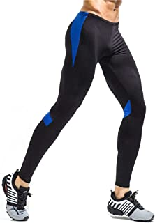 LUKEEXIN Men Compression Dry Cool Sports Tights Pants Baselayer Running Leggings Yoga