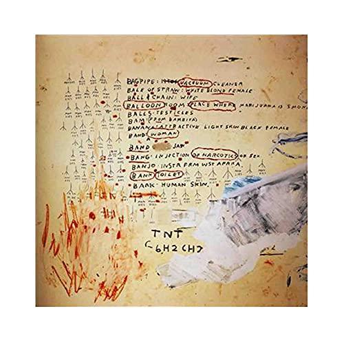 《Eroica II》 Jean-Michel Basquiat Cuadro en Lienzo| Lienzos Decorativos | Cuadros Decoración Dormitorios | Cuadros Decoración Salón (40x40cm (16x16 inch), sin marco)