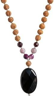 Tiny Devotions 108 Mala Beads Commitment Necklace - Black Onyx