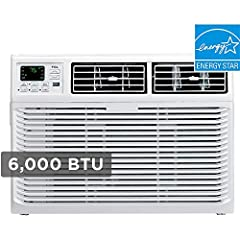 Powerful 6,000 BTU rating for quiet, fast, and effective cooling for rooms up to 250 sq. ft. Easy to install and use, sets up in minutes with the included window mounting bracket, while the front-mounted, electronic controls are intuitive and easy to...