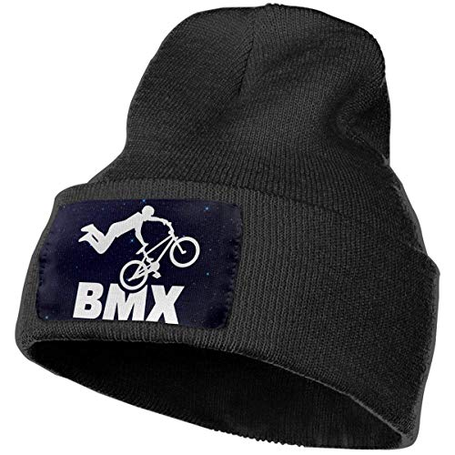 Voxpkrs Mens And Womens Beanie Hat Bicycle Ride BMX Fashion Cuffed Plain Skull Knit Hat cap Sports & Outdoors Watch cap Black Design 3042