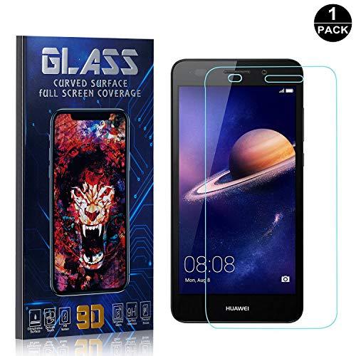 Bear Village® Displayschutzfolie für Huawei Y3 2017, HD Panzerglasfolie mit 3D Touch, 9H Härtegrad Schutzfilm aus Gehärtetem Glas für Huawei Y3 2017, 1 Stück