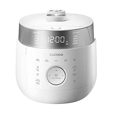 Cuckoo CRP-LHTR0609F Induction Heating Twin Pressure Rice Cooker & Warmer with GABA, Mixed, Scorched, Turbo, Porridge, Steam (Ultra High/Non Pressure) and more, Made in Korea (White) (6 Cup)