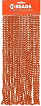 Amscan 24Count Beads Necklace, Orange