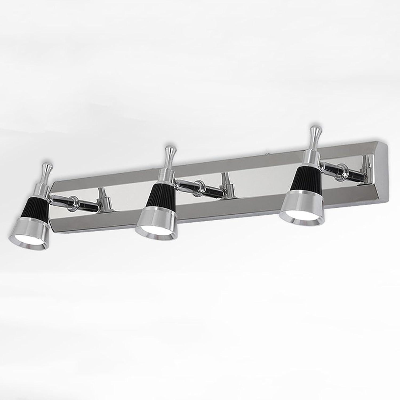 Die Erntezeit LED-Spiegel-vorderes helles einfaches Edelstahl-Badezimmer-Spiegel-Lichter Wand-Lampe   Winkel justierbar