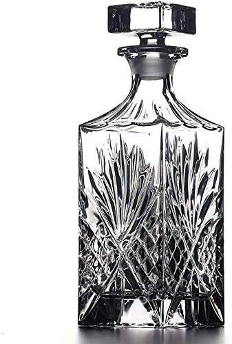 Vasos de Whisky Jarra de Whisky Whisky Crystal Glass Decanter Botella De Vino Botella De Bodega Hogar Jarra De Vino con Tapa Decantador De Vino Vino Copa De Vino Decoración del Gabinete De Vino 750L