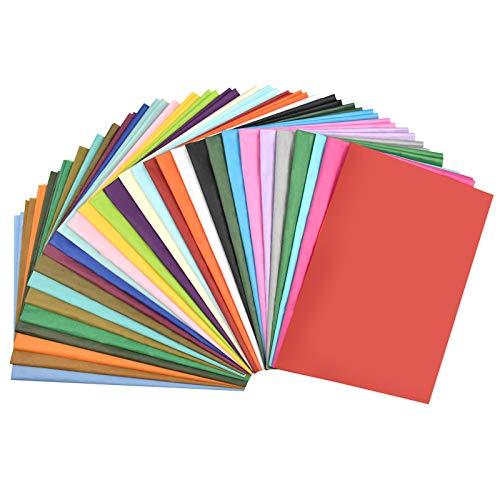 Chstarina 100 Hojas Papel de Seda Colores - 30 Colores - 50 x 90 cm para Todos los Proyectos de Arte, Trabajo en el Aula, Actividades en el Hogar