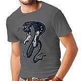 Photo de lepni.me T-Shirt pour Hommes Serpent électrique Cobra, Amateur de Rock and Roll (Small Graphite Multicolore)