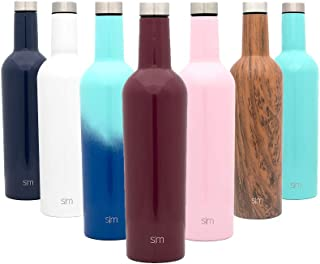 Simple Modern Spirit 25oz Wine Bottle - Double Wall, Vacuum Insulated Wine Bottle with Leak Proof Lid - 18/8 Stainless Steel Cabernet